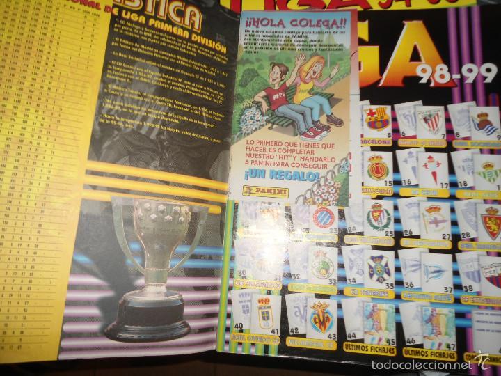 Coleccionismo deportivo: ALBUM CROMOS FUTBOL LIGA 98 99 - PANINI - Foto 2 - 57868360