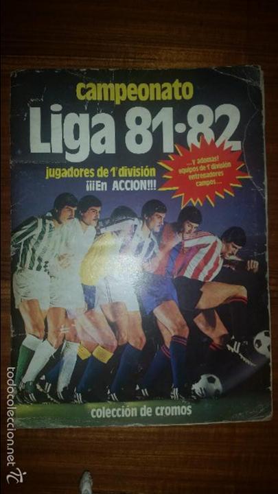 ALBUM LIGA 81 - 82, ESTE, INCOMPLETO CON 167 CROMOS (Coleccionismo Deportivo - Álbumes y Cromos de Deportes - Álbumes de Fútbol Incompletos)