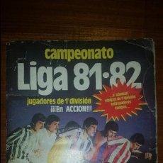 Coleccionismo deportivo: ALBUM LIGA 81 - 82, ESTE, INCOMPLETO CON 167 CROMOS. Lote 58106364