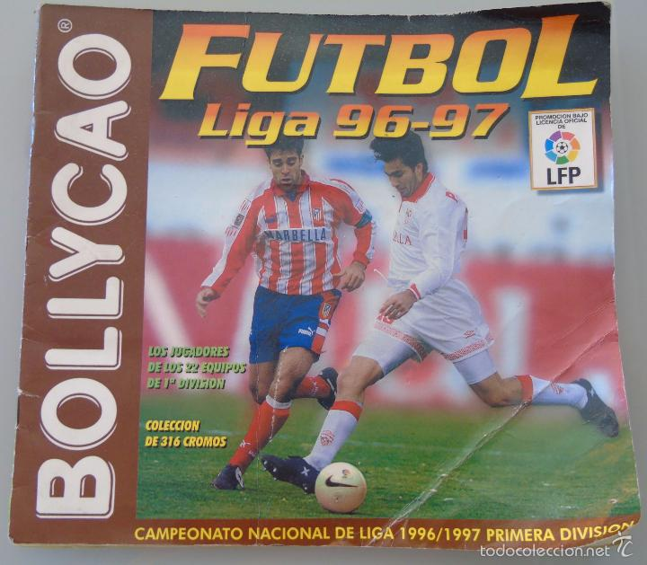 ÁLBUM DE CROMOS DE FÚTBOL. LIGA 1996 1997 96 97. BOLLYCAO. CONTIENE 201 CROMOS. 200 GR (Coleccionismo Deportivo - Álbumes y Cromos de Deportes - Álbumes de Fútbol Incompletos)