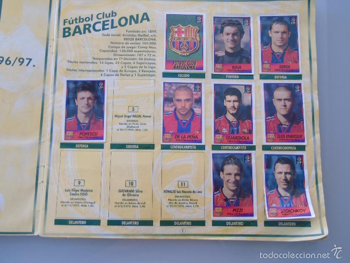 Coleccionismo deportivo: ÁLBUM DE CROMOS DE FÚTBOL. LIGA 1996 1997 96 97. BOLLYCAO. CONTIENE 201 CROMOS. 200 GR - Foto 14 - 58294886