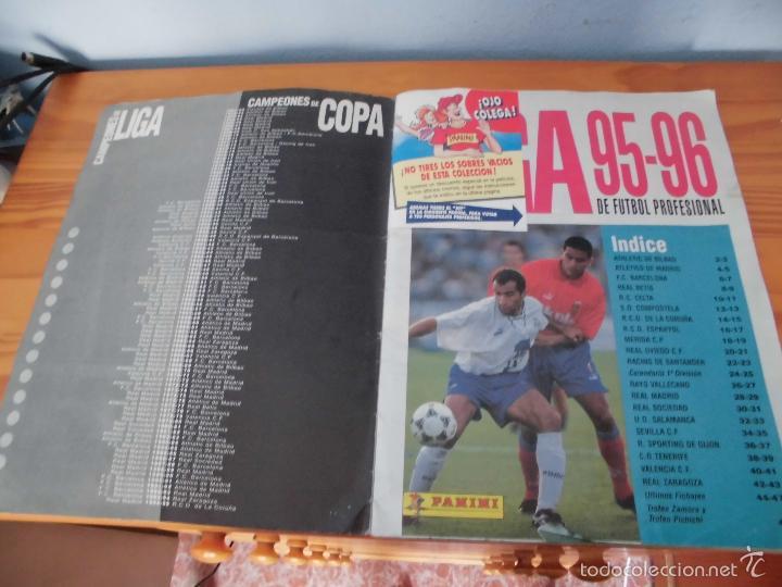 Coleccionismo deportivo: ALBUM PANINI LIGA 95 96 FUTBOL CROMOS 1995 1996 - ALBUM INCOMPLETO - Foto 2 - 58332416