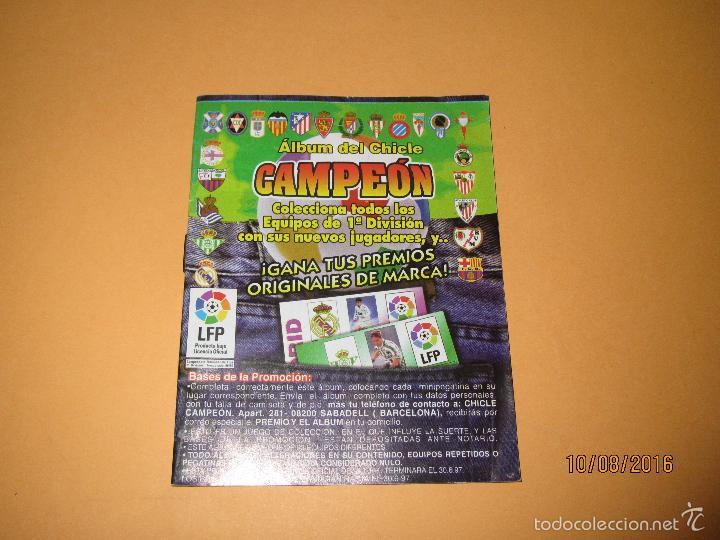 ALBUM DE FUTBOL 1ª DIVISIÓN DEL CHICLE CAMPEON A ESTRENAR - AÑO 1997 (Coleccionismo Deportivo - Álbumes y Cromos de Deportes - Álbumes de Fútbol Incompletos)