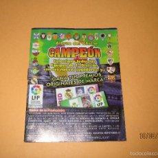 Coleccionismo deportivo: ALBUM DE FUTBOL 1ª DIVISIÓN DEL CHICLE CAMPEON A ESTRENAR - AÑO 1997. Lote 58519760