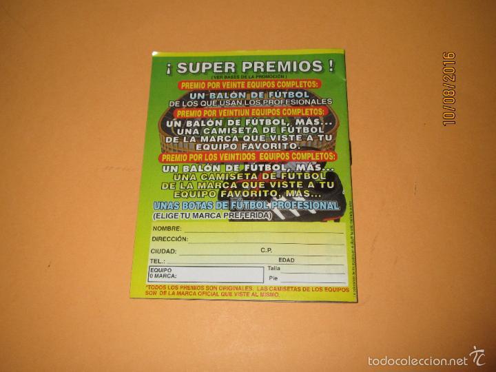 Coleccionismo deportivo: Album de Futbol 1ª División del CHICLE CAMPEON a Estrenar - Año 1997 - Foto 2 - 58519760