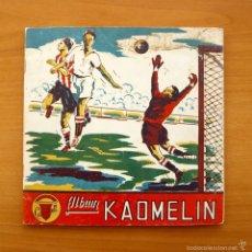 Coleccionismo deportivo: ALBUM KAOMELIN - PRODUCTOS CARBONELL, CHOCOLATES KAOMELIN DE ENGUERA, VALENCIA, AÑO 1953, VER FOTOS. Lote 59749080