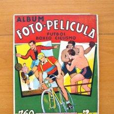 Coleccionismo deportivo: ALBUM FOTO-PELICULA FÚTBOL-BOXEO-CICLISMO - A FALTA DE 3 CROMOS - EDITORIAL CISNE 43-44, VER FOTOS. Lote 59809700