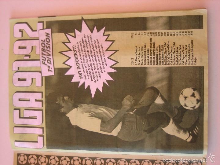 Coleccionismo deportivo: ÁLBUM CROMOS ESTE FÚTBOL LIGA 91 92 1991 1992 CON 282 CROMOS - FOTOS DE TODAS LAS HOJAS - Foto 3 - 60004411