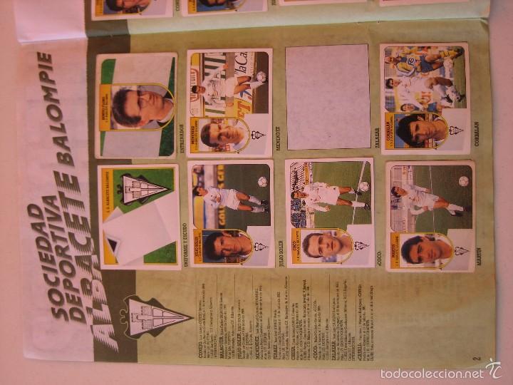 Coleccionismo deportivo: ÁLBUM CROMOS ESTE FÚTBOL LIGA 91 92 1991 1992 CON 282 CROMOS - FOTOS DE TODAS LAS HOJAS - Foto 4 - 60004411