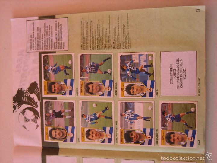 Coleccionismo deportivo: ÁLBUM CROMOS ESTE FÚTBOL LIGA 91 92 1991 1992 CON 282 CROMOS - FOTOS DE TODAS LAS HOJAS - Foto 15 - 60004411