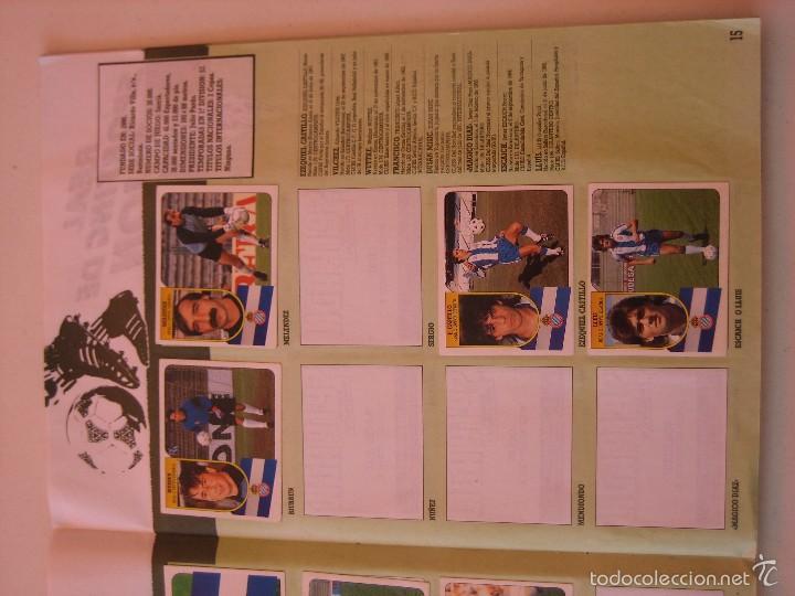 Coleccionismo deportivo: ÁLBUM CROMOS ESTE FÚTBOL LIGA 91 92 1991 1992 CON 282 CROMOS - FOTOS DE TODAS LAS HOJAS - Foto 17 - 60004411