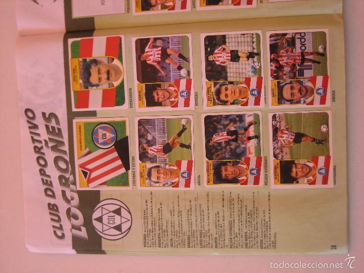 Coleccionismo deportivo: ÁLBUM CROMOS ESTE FÚTBOL LIGA 91 92 1991 1992 CON 282 CROMOS - FOTOS DE TODAS LAS HOJAS - Foto 20 - 60004411