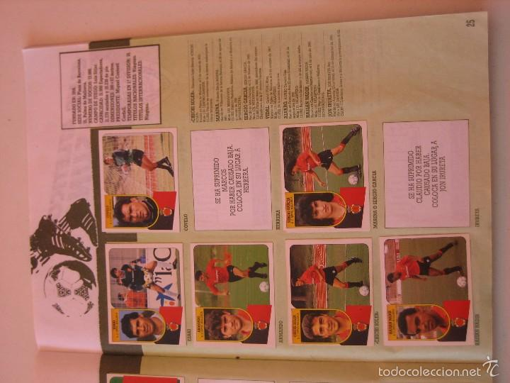 Coleccionismo deportivo: ÁLBUM CROMOS ESTE FÚTBOL LIGA 91 92 1991 1992 CON 282 CROMOS - FOTOS DE TODAS LAS HOJAS - Foto 27 - 60004411