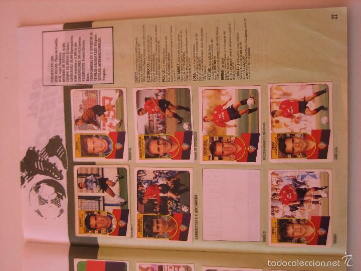 Coleccionismo deportivo: ÁLBUM CROMOS ESTE FÚTBOL LIGA 91 92 1991 1992 CON 282 CROMOS - FOTOS DE TODAS LAS HOJAS - Foto 29 - 60004411