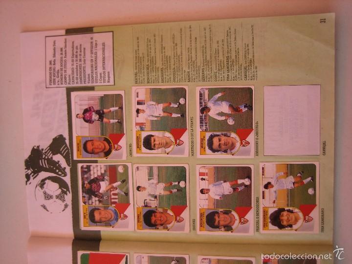 Coleccionismo deportivo: ÁLBUM CROMOS ESTE FÚTBOL LIGA 91 92 1991 1992 CON 282 CROMOS - FOTOS DE TODAS LAS HOJAS - Foto 33 - 60004411