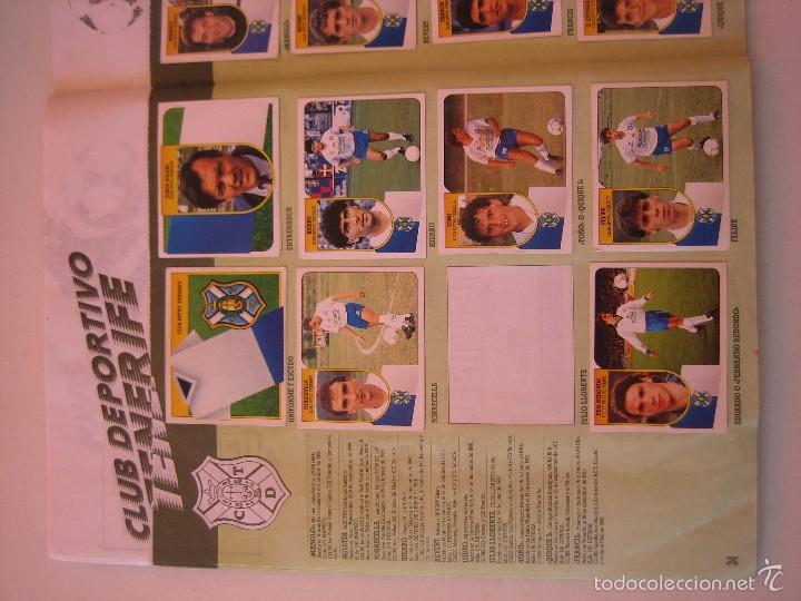 Coleccionismo deportivo: ÁLBUM CROMOS ESTE FÚTBOL LIGA 91 92 1991 1992 CON 282 CROMOS - FOTOS DE TODAS LAS HOJAS - Foto 36 - 60004411