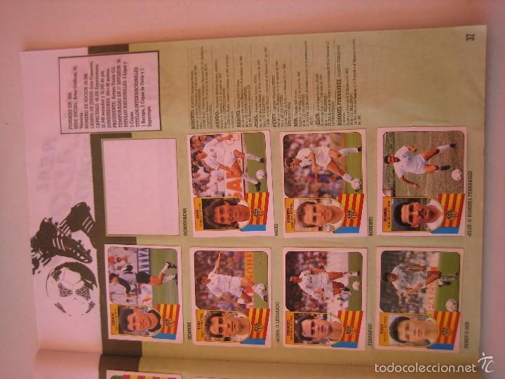 Coleccionismo deportivo: ÁLBUM CROMOS ESTE FÚTBOL LIGA 91 92 1991 1992 CON 282 CROMOS - FOTOS DE TODAS LAS HOJAS - Foto 39 - 60004411