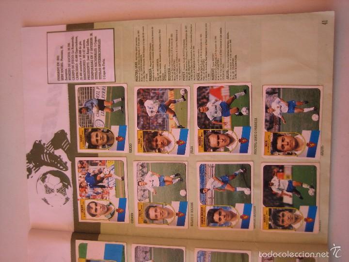 Coleccionismo deportivo: ÁLBUM CROMOS ESTE FÚTBOL LIGA 91 92 1991 1992 CON 282 CROMOS - FOTOS DE TODAS LAS HOJAS - Foto 43 - 60004411