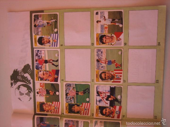 Coleccionismo deportivo: ÁLBUM CROMOS ESTE FÚTBOL LIGA 91 92 1991 1992 CON 282 CROMOS - FOTOS DE TODAS LAS HOJAS - Foto 45 - 60004411
