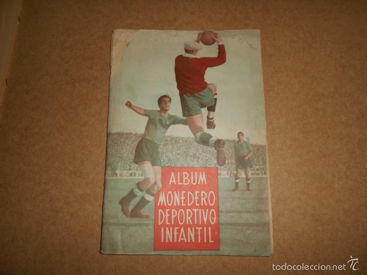 ALBUM CROMOS FUTBOL MONEDERO DEPORTIVO INFANTIL 1952-53 147 CROMOS MUY MUY DIFICL MIRA DESCRIPCION (Coleccionismo Deportivo - Álbumes y Cromos de Deportes - Álbumes de Fútbol Incompletos)