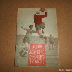 Coleccionismo deportivo: ALBUM CROMOS FUTBOL MONEDERO DEPORTIVO INFANTIL 1952-53 147 CROMOS MUY MUY DIFICL MIRA DESCRIPCION. Lote 60291783