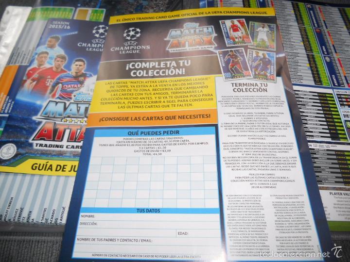 Coleccionismo deportivo: ALBUM FICHERO ARCHIVADOR VACIO SIN CROMOS TOPPS MATCH ATTAX CHAMPIONS LEAGUE 2015 2016 15 16 - Foto 3 - 147394098