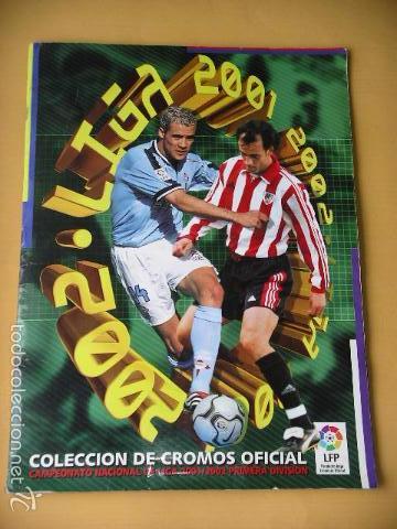 ÁLBUM DE CROMOS FÚTBOL, LIGA 2001/2002, 01/02, ED. ESTE, CONTIENE 465 CROMOS, MUY COMPLETO ERCOM (Coleccionismo Deportivo - Álbumes y Cromos de Deportes - Álbumes de Fútbol Incompletos)