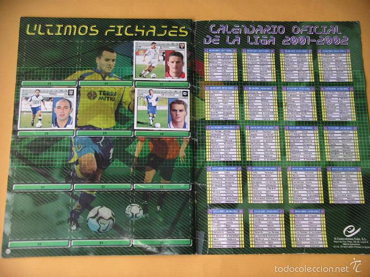 Coleccionismo deportivo: Álbum de Cromos fútbol, Liga 2001/2002, 01/02, ed. Este, contiene 465 cromos, muy completo ercom - Foto 4 - 60407615
