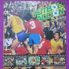 Coleccionismo deportivo: ALBUM CROMOS, FUTBOL EN ACCION, DANONE 82, NARANJITO, TIENE 64 CROMOS, . Lote 60792343