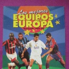 Coleccionismo deportivo: ALBUM CROMOS, LOS MEJORES EQUIPOS DE EUROPA, 1997-98, FUTBOL, PANINI, TIENE 132 CROMOS, . Lote 60813971
