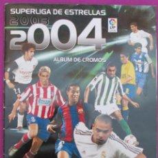 Coleccionismo deportivo: ALBUM CROMOS, SUPERLIGA DE ESTRELLAS 2003-2004, PANINI, TIENE 318CROMOS, . Lote 60865047