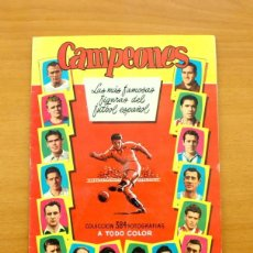 Coleccionismo deportivo: CAMPEONES 1954-1955, 54-55 - EDITORIAL BRUGUERA - CON 262 CROMOS, VER FOTOS INTERIORES. Lote 61247835