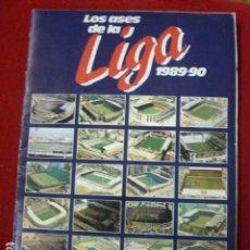 Coleccionismo deportivo: ALBUM INCOMPLETO LOS ASES DE LA LIGA 1989 90. FALTAN 41 CROMOS. . Lote 62212888