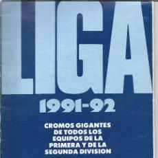 Coleccionismo deportivo: 8893- ALBUM INCOMPLETO -LIGA AS 1991-92. Lote 63001120