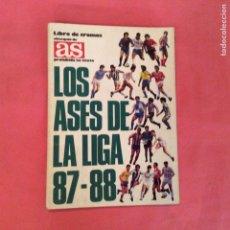 Coleccionismo deportivo: LOS ASES DE LA LIGA 87-88 -ED. AS 1987 - 1988 -FALTAN 7 DE 260 CROMOS. Lote 63186906