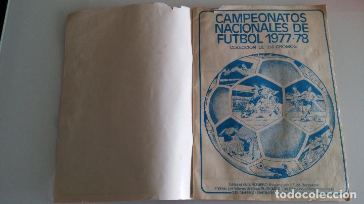 Coleccionismo deportivo: ÁLBUM FÚTBOL RUIZ ROMERO 1977 1978 - Foto 3 - 63649527