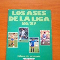 Coleccionismo deportivo: ÁLBUM - LOS ASES DE LA LIGA 86-87, 1986-1987 - DIARIO AS - CON 153 CROMOS PEGADOS. Lote 63729263