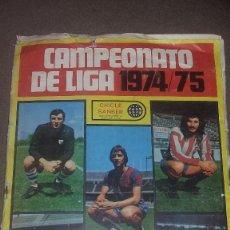Coleccionismo deportivo: ALBUM INCOMPLETO DE LA LIGA 74-75 DE CHICLE SANBER. Lote 64480751