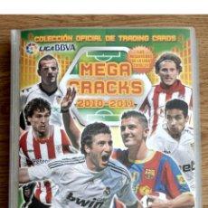 Coleccionismo deportivo: ALBUM FUTBOL MEGA CRACKS 2010 2011 COLECCIÓN OFICIAL DE 452 TRADING CARDS NO REPETIDAS. Lote 50081364