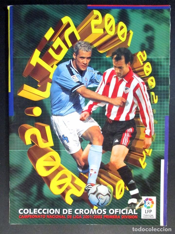 LIGA 2001 2002 , 01 - 02 , ALBUM DE CROMOS DE FÚTBOL , INCOMPLETO , EDICIONES ESTE (Coleccionismo Deportivo - Álbumes y Cromos de Deportes - Álbumes de Fútbol Incompletos)