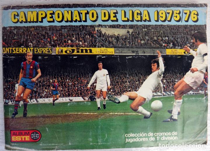 ALBUM CAMPEONATO LIGA 1975 1976 75 76, ESTE COMPLETO A FALTA DE FICHAJES, VER FOTOS , ORIGINAL (Coleccionismo Deportivo - Álbumes y Cromos de Deportes - Álbumes de Fútbol Incompletos)