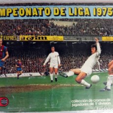 Coleccionismo deportivo: ALBUM CAMPEONATO LIGA 1975 1976 75 76, ESTE COMPLETO A FALTA DE FICHAJES, VER FOTOS , ORIGINAL. Lote 67006282