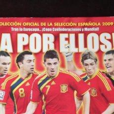 Coleccionismo deportivo: ALBUM FUTBOL PANINI A POR ELLOS SELECCION ESPAÑOLA 2009 CON 192 CROMOS. Lote 67012018