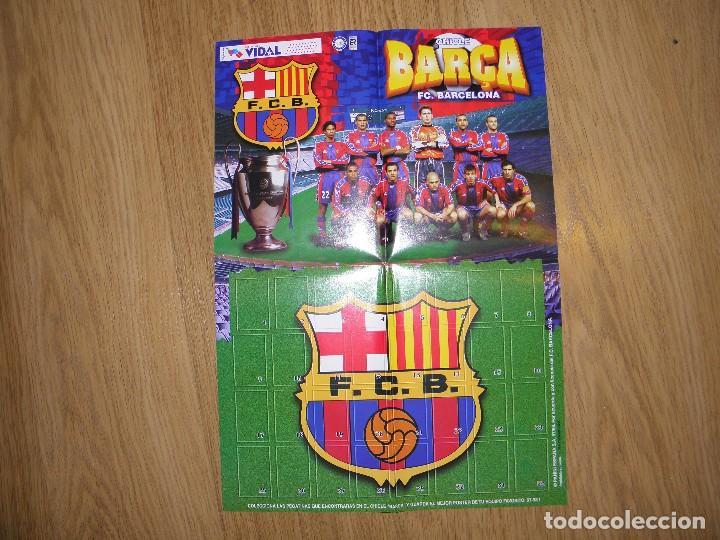 ALBUM POSTER BARCELONA - BARÇA 97-98- CHICLES VIDAL GOLOSINAS (Coleccionismo Deportivo - Álbumes y Cromos de Deportes - Álbumes de Fútbol Incompletos)