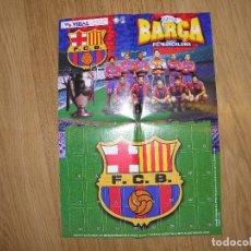 Coleccionismo deportivo: ALBUM POSTER BARCELONA - BARÇA 97-98- CHICLES VIDAL GOLOSINAS. Lote 68396901