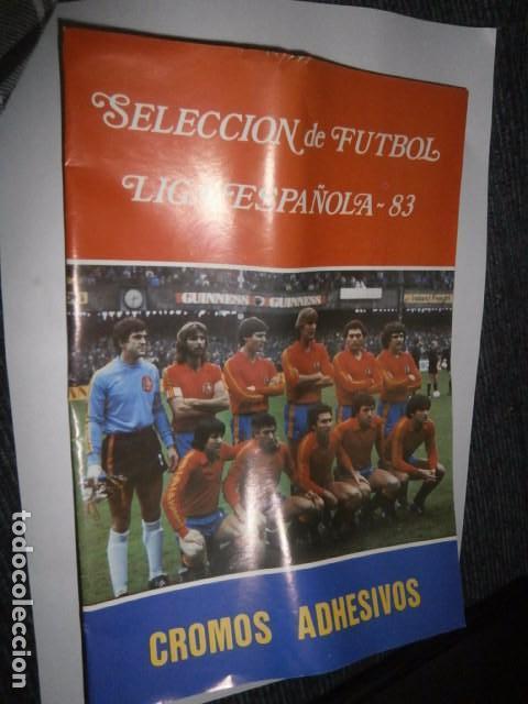 ALBUM CROMOS VACIO PLANCHA LIGA ESPAÑOLA 83 (Coleccionismo Deportivo - Álbumes y Cromos de Deportes - Álbumes de Fútbol Incompletos)