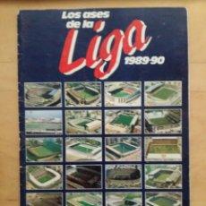 Coleccionismo deportivo: ALBUM LOS ASES DE LA LIGA 89/90 ALBUM INCOMPLETO 1989-90. Lote 70204553