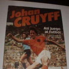 Coleccionismo deportivo: ALBUM JOHAN CRUYFF ASI JUEGO AL FUTBOL,VACIO CROPAN. Lote 70262385