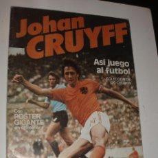 Coleccionismo deportivo: ALBUM JOHAN CRUYFF ASI JUEGO AL FUTBOL,VACIO CROPAN. Lote 70274289