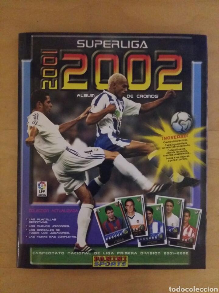 ALBUM SUPER LIGA 01/02 INCOMPLETO DE PANINI (Coleccionismo Deportivo - Álbumes y Cromos de Deportes - Álbumes de Fútbol Incompletos)